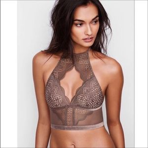 High Neck Longline Bralette